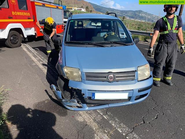 """Los Bomberos de La Palma intervienen ayer en dos accidentes en la zona de """"Las Breñas"""""""