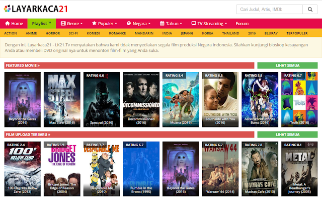 Situs Download Film Terbaru dan Terlengkap (Update) 8 Situs Download Film Bioskop Terbaru dan Terlengkap