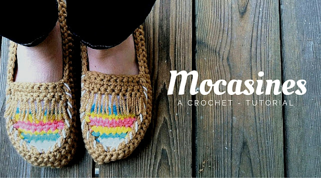 Tutorial #69: Mocasines tejidos a Crochet