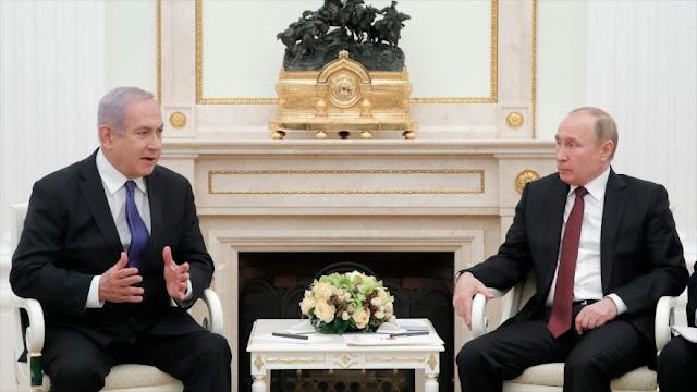 Netanyahu expresa inquietud a Putin por presencia de Irán en Siria