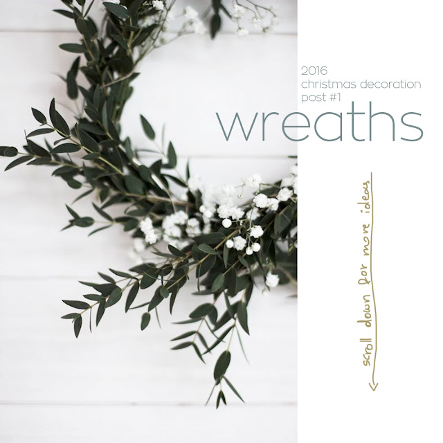 christmas wreaths minimalist style