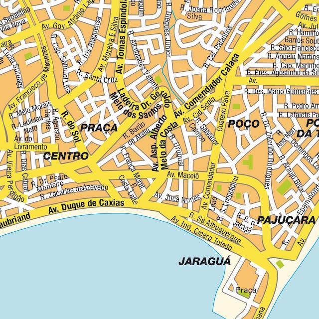 Mapa do centro de Maceió