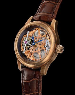 Kees Engelbarts Organic Skeleton Bronze Tourbillon watch Pièce Unique