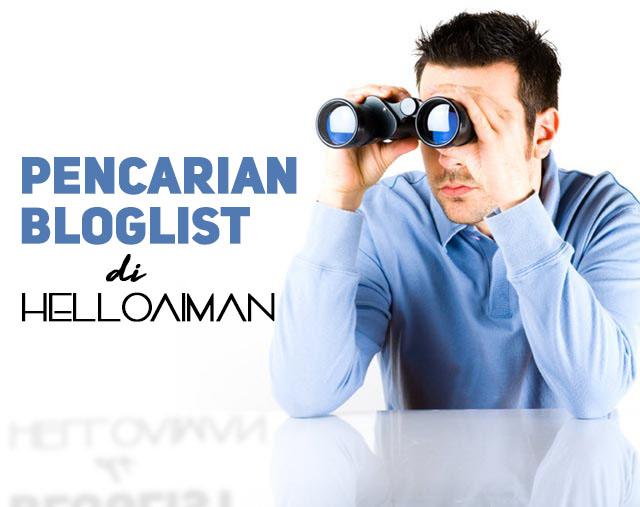 Pencarian Bloglist Di HELLOAIMAN