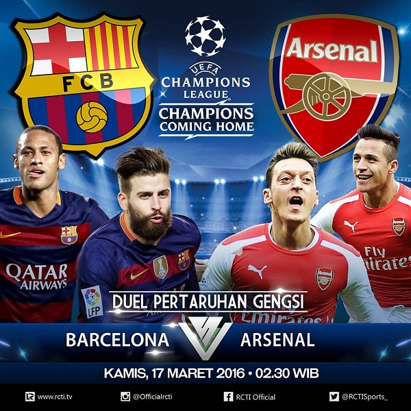 Barcelona vs Arsenal, Leg 2 Liga Champions