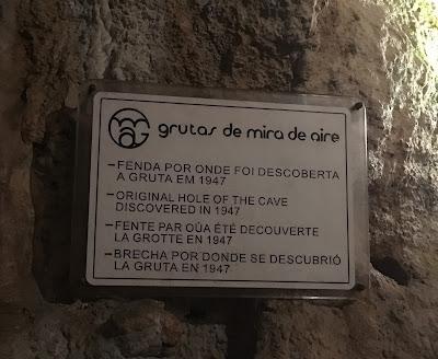 placa entrada da gruta