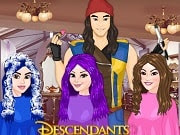 Descendants Hair Salon is a free online game for girls on GamesGirlGames.com. Enjoy with another fun hair styling game with your favourite characters from the Descendants, Evie, Mal and Loonie. Use the right tools to arrange it as your client desires and then go to the next page of the game to select an outfit to compliment your client's new haircut.