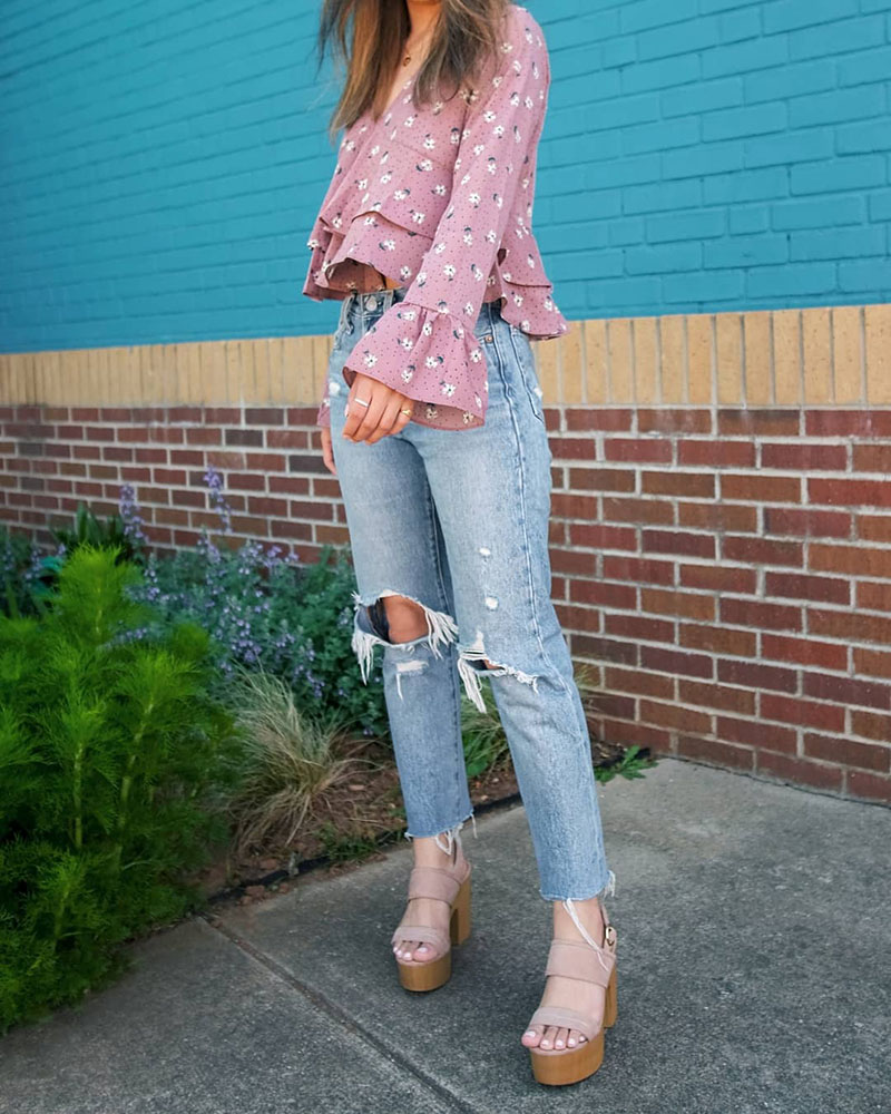 florals spring bloggers outfits, levis 501 skinny, chicwish clothing review