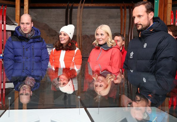 Crown Princess Mette Marit and Crown Prince Haakon of Norway at Ski Jump Tower