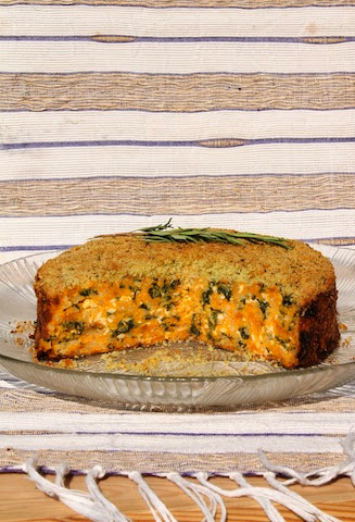 Food Lust People Love: Roasted butternut squash and garlicky kale mixed with cheese and eggs are topped with herby breadcrumbs and baked for a great vegetarian main course or side dish I'm calling Butternut Squash Tian.