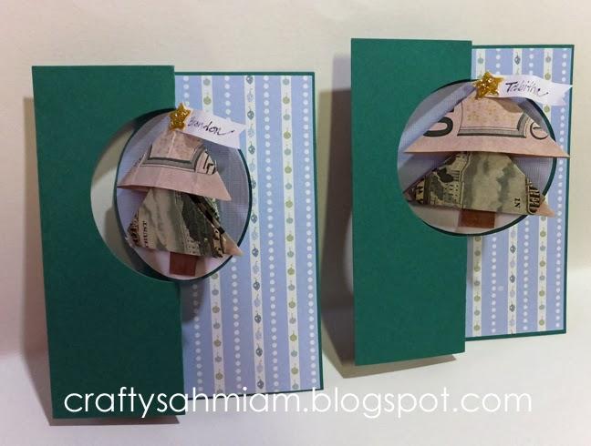 Crafty Sahm I Am: Origami Folded Money Christmas Tree