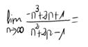 8. Límite de una sucesión (Cociente de polinomios) 3