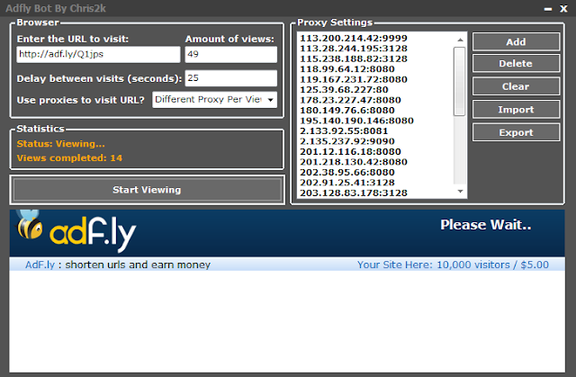 ADF.LY BOT CLICKER MAKE $10,000 / DAY
