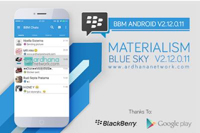 BBM MOD Materialism Blue SKY v2.12.0.11 Apk Terbaru Paling Populer