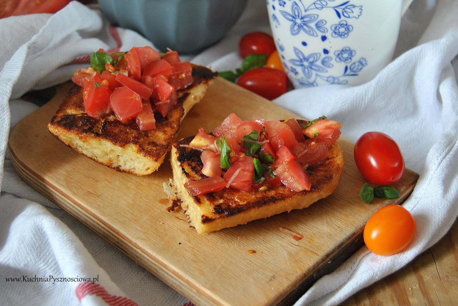 614. Tosty francuskie z pomidorami