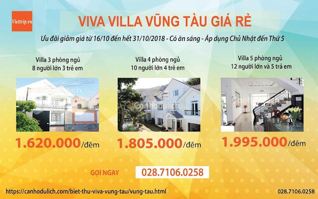 Chương trình khuyến mãi khi đặt biệt thự Viva Vũng Tàu