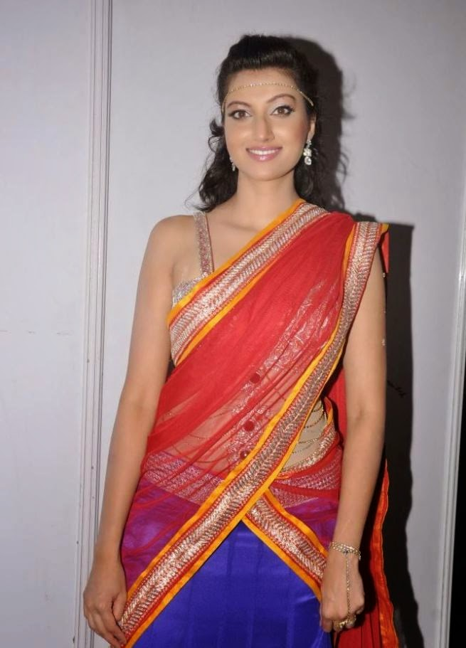 Hamsa nandini hot photos in half saree at cccup 2013 launch