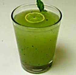 Mint Juice With Black Salt