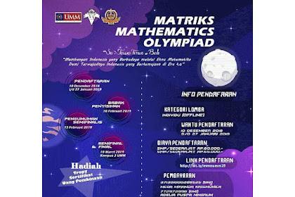 Lomba Matriks Mathematics Olimpiad 2019 SMP-SMA Sederajat