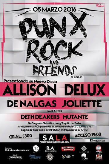 Punk Rock And Friends en el SALA