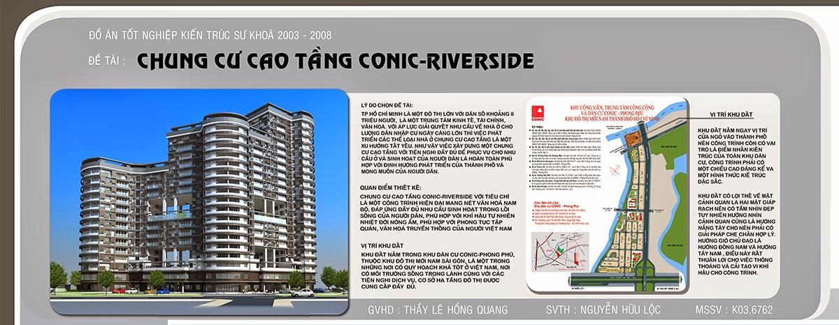 Chung cư cao tầng Conic Riverside - Đồ Án Tốt Nghiệp KTS