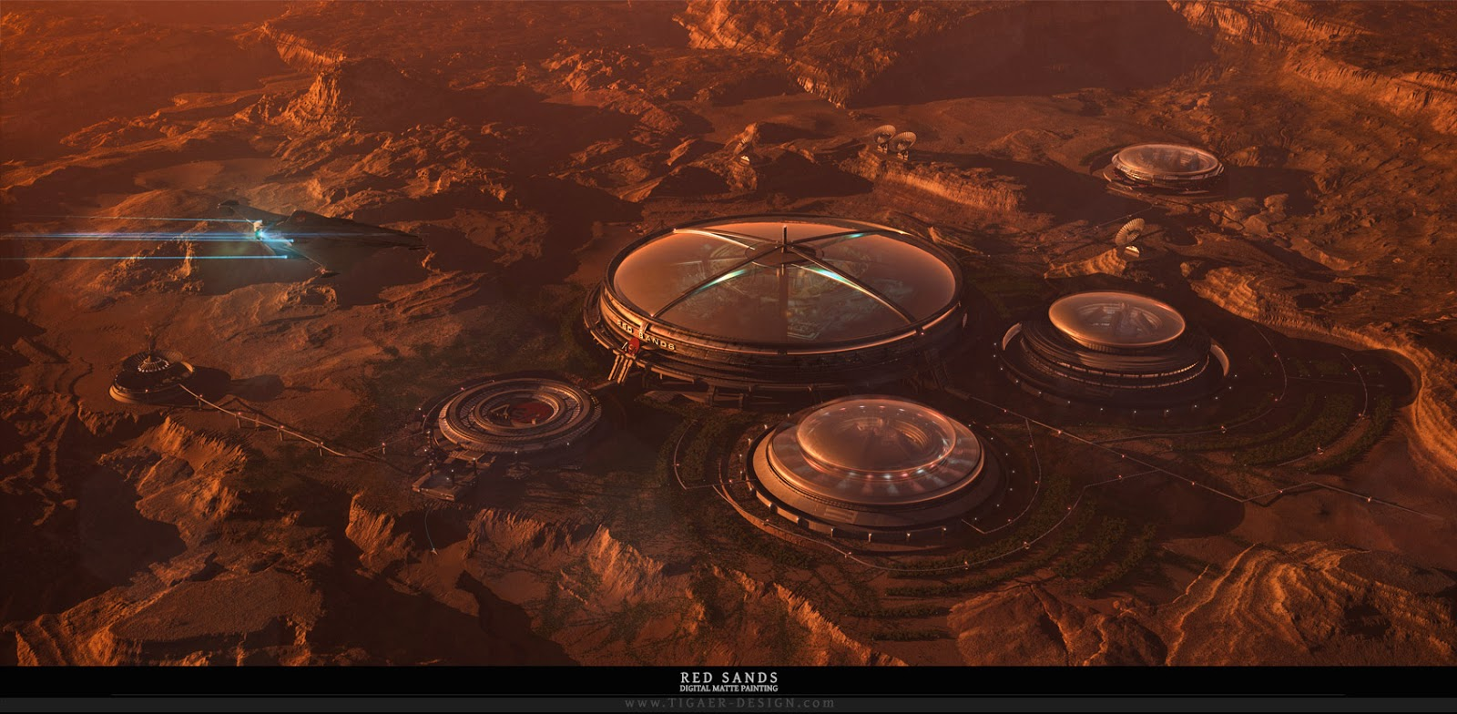 Martian colony by Christian Hecker