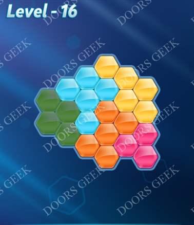 Block! Hexa Puzzle [Intermediate] Level 16 Solution, Cheats, Walkthrough for android, iphone, ipad, ipod