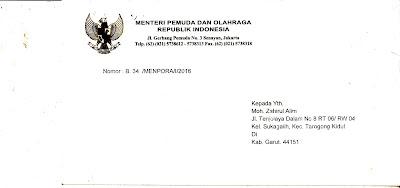 Surat Menpora Untuk PSP3