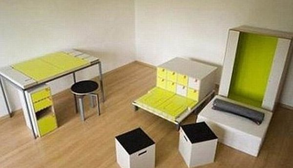 an entire room in one box damn cool pictures. Black Bedroom Furniture Sets. Home Design Ideas