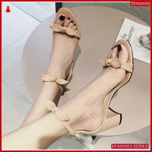 DFAN3203S126 Sepatu Ml 15 Hak Wanita Tahu Pita BMGShop