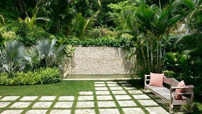 Contoh taman rumah minimalis tropis