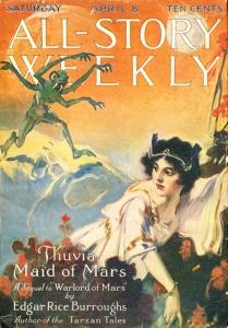 Thuvia, a Mars lánya megjelenés az All-Story Weekly -ben