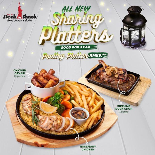 Poultry Platter NY Steak Shack Festive Season New Menu