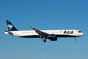 1st A321N for Azul