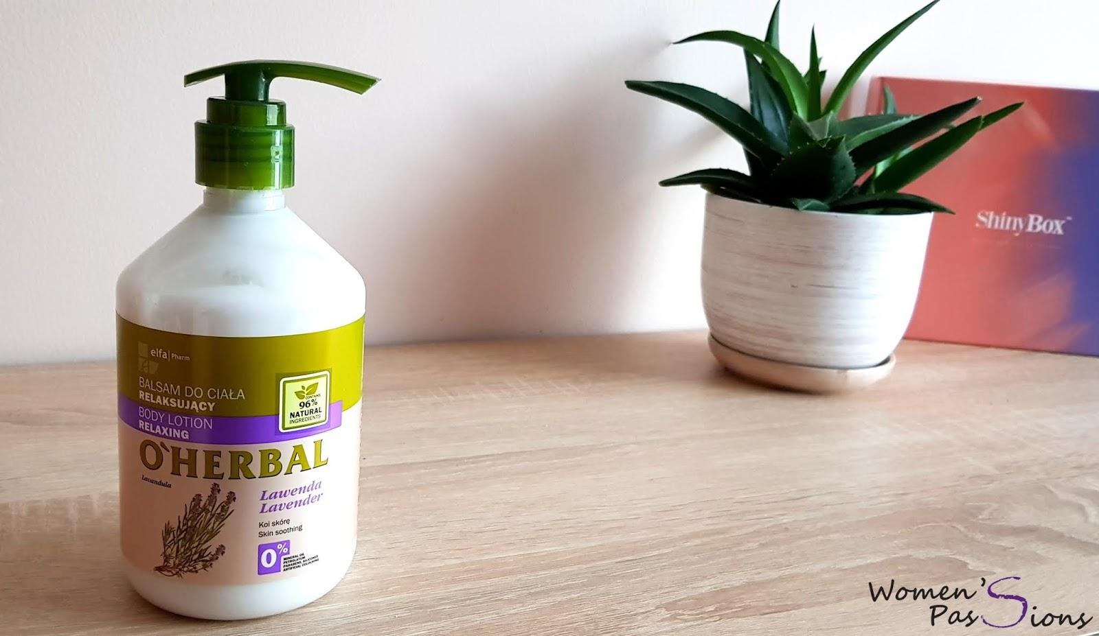 O'Herbal Lawendowy relaksujący balsam do ciała