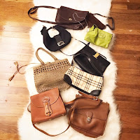 thrift finds, designer thrift haul, fendi bag, ferragamo purse, hermes mini bag