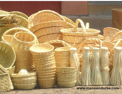 Mexican Baskets at the Friday Pottery Market in Patzcuaro