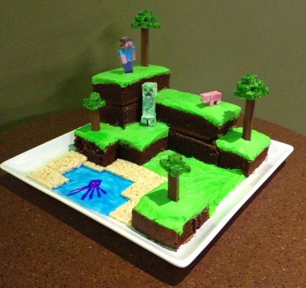 http://www.instructables.com/id/Minecraft-World-Cake/