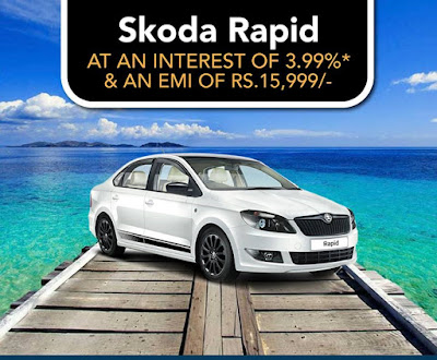 Skoda Rapid with just 3.99 rate of interest and many more offers | Akshaya Tritiya offers | May 2016 discount offers