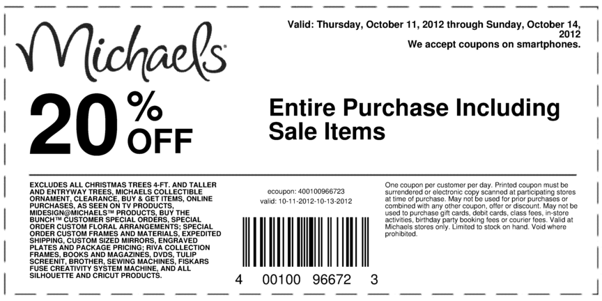 Printable Coupons At Michaels. Click here to get up-to-the-minute in-store coupons and online promo codes from Michaels. Select your location to see all coupons.