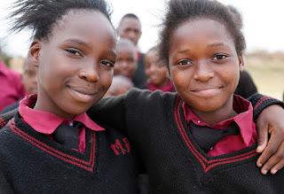 Zambia school kids