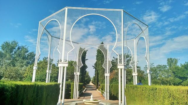 Parque Juan Carlos I Madrid. Jardín de las tres culturas