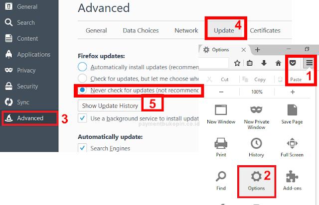 Plugin Tidak Tampil di Mozilla 52