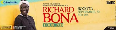 POSTER RICHARD BONA en Bogotá
