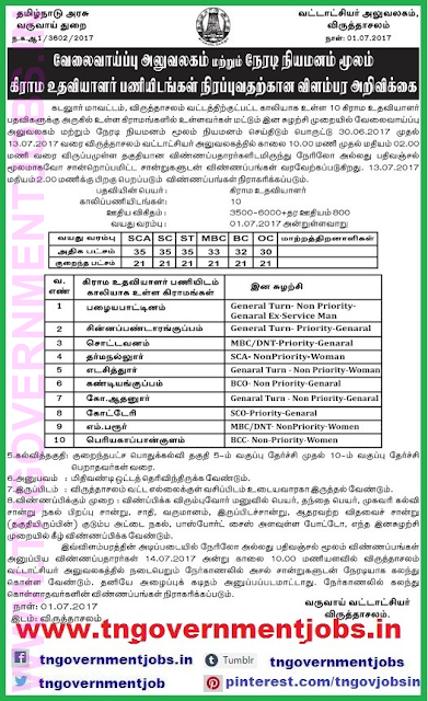 village-Assistant-post-recruitment-in-virudhachalam-taluk-cuddalore-www-tngovernmentjobs-in