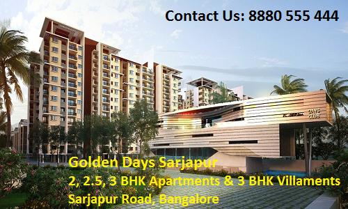 Golden Days Sarjapur, Golden Days Sarjapur Location, Golden Days Sarjapur Bangalore, Golden Days Sarjapur Review, Golden Days Sarjapur Price, Apartments in Bangalore, Properties in Bangalore, Pre Launch Properties In Bangalore