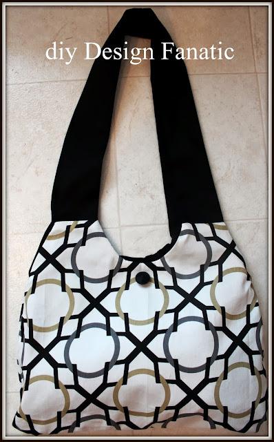 hobo bag, sewing project, fabric hobo bag
