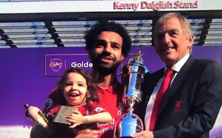 Mohamed Salah's wife joins Liverpool star at Anfield as daughter shows off her skills