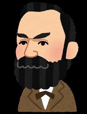 アルフレッド・ノーベルの似顔絵イラスト