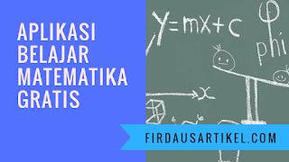 Aplikasi belajar matematika gratis
